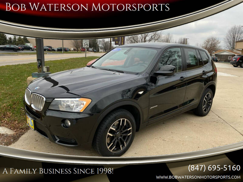2011 BMW X3 for sale at Bob Waterson Motorsports in South Elgin IL