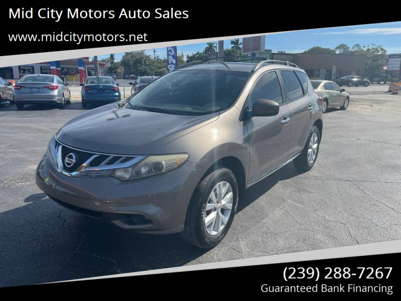 2013 Nissan Murano for sale at Mid City Motors Auto Sales in Fort Myers FL
