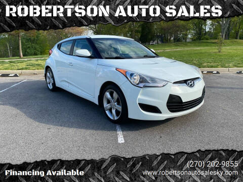 2013 Hyundai Veloster for sale at ROBERTSON AUTO SALES in Bowling Green KY