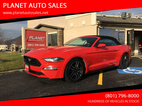 2018 Ford Mustang for sale at PLANET AUTO SALES in Lindon UT