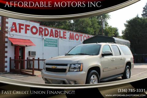 2012 Chevrolet Suburban for sale at AFFORDABLE MOTORS INC in Winston Salem NC