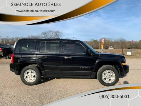 2016 Jeep Patriot for sale at Seminole Auto Sales in Seminole OK