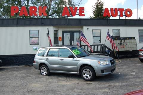2007 Subaru Forester for sale at Park Ave Auto Inc. in Worcester MA