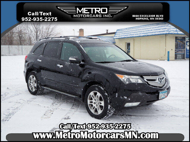 2009 Acura MDX for sale at Metro Motorcars Inc in Hopkins MN