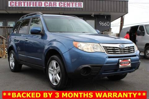 2010 Subaru Forester for sale at CERTIFIED CAR CENTER in Fairfax VA