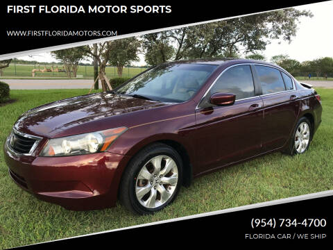 2010 Honda Accord for sale at FIRST FLORIDA MOTOR SPORTS in Pompano Beach FL
