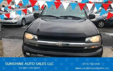 2003 Chevrolet TrailBlazer for sale at SUNSHINE AUTO SALES LLC in Paterson NJ