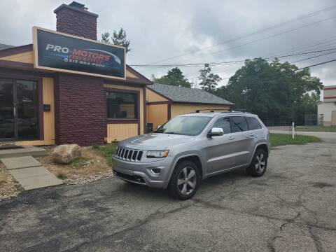2015 Jeep Grand Cherokee for sale at Pro Motors in Fairfield OH