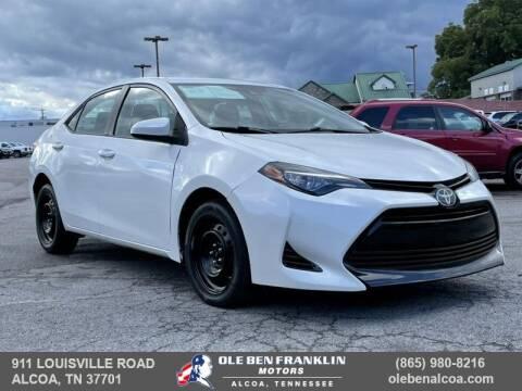 2017 Toyota Corolla for sale at Ole Ben Franklin Motors-Mitsubishi of Alcoa in Alcoa TN