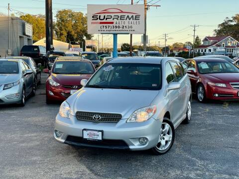 2007 Toyota Matrix for sale at Supreme Auto Sales in Chesapeake VA