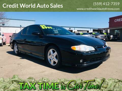 2004 Chevrolet Monte Carlo for sale at Credit World Auto Sales in Fresno CA