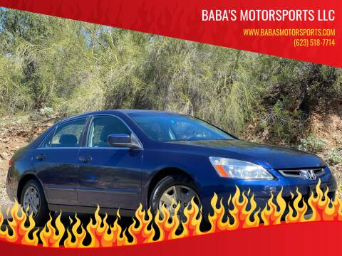 2003 Honda Accord for sale at Baba's Motorsports, LLC in Phoenix AZ