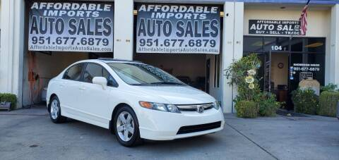 2007 Honda Civic for sale at Affordable Imports Auto Sales in Murrieta CA