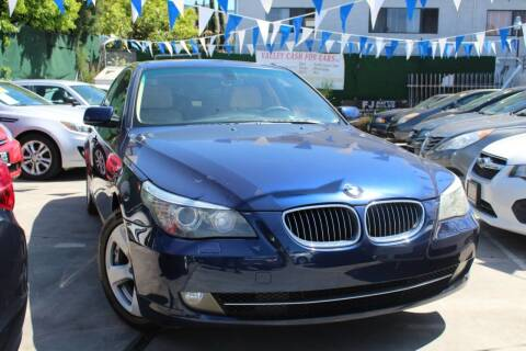 2008 BMW 5 Series for sale at FJ Auto Sales North Hollywood in North Hollywood CA