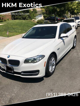 2014 BMW 5 Series for sale at HKM Exotics in Corona CA