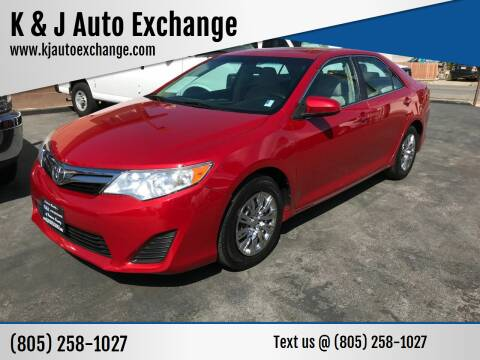 2014 Toyota Camry for sale at K & J Auto Exchange in Santa Paula CA