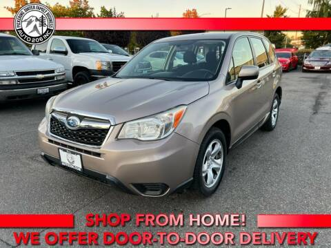 2015 Subaru Forester for sale at Auto 206, Inc. in Kent WA