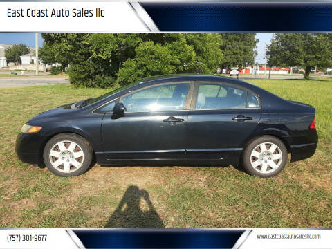 2008 Honda Civic for sale at East Coast Auto Sales llc in Virginia Beach VA