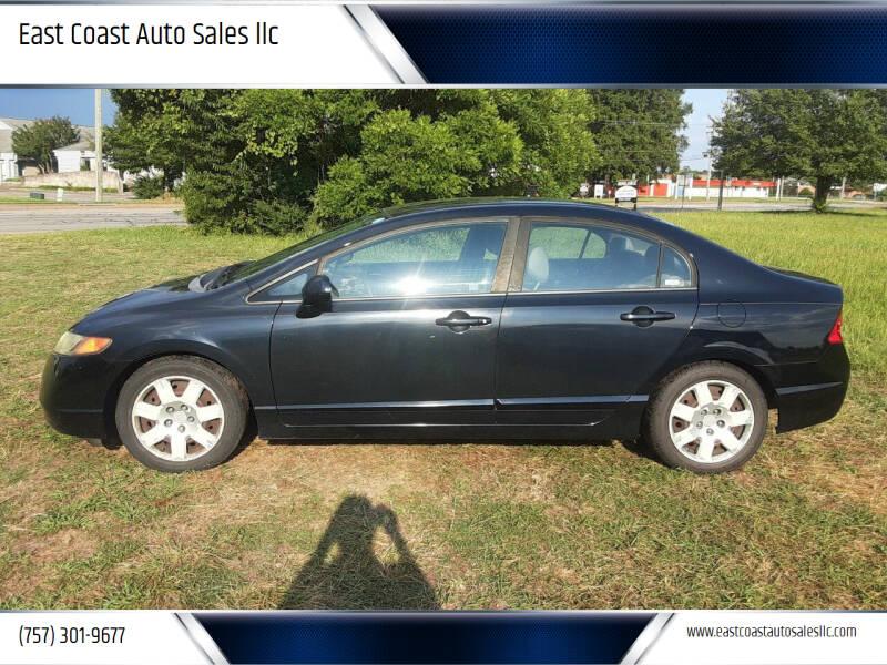 2008 Honda Civic for sale at East Coast Auto Sales llc in Virginia Beach VA