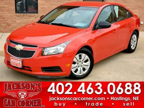 2014 Chevrolet Cruze for sale at Jacksons Car Corner Inc in Hastings NE