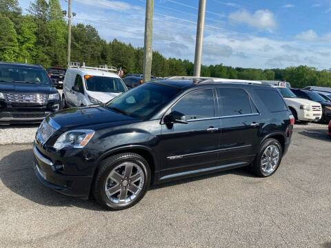 2012 GMC Acadia for sale at Billy Ballew Motorsports in Dawsonville GA