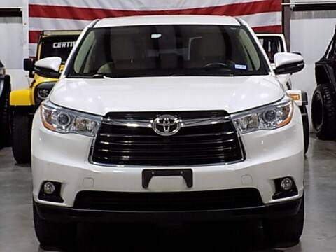 2014 Toyota Highlander for sale at Texas Motor Sport in Houston TX