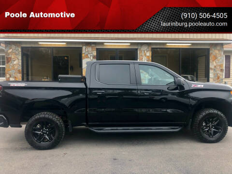 2019 Chevrolet Silverado 1500 for sale at Poole Automotive in Laurinburg NC