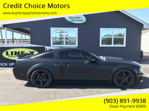 2009 Ford Mustang for sale at Credit Choice Motors in Sherman TX