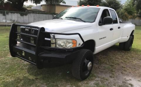 2004 Dodge Ram Pickup 3500 for sale at MISSION AUTOMOTIVE ENTERPRISES in Plant City FL
