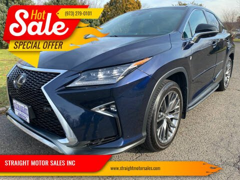 2018 Lexus RX 350 for sale at STRAIGHT MOTOR SALES INC in Paterson NJ