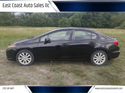 2012 Honda Civic for sale at East Coast Auto Sales llc in Virginia Beach VA