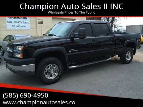 2003 Chevrolet Silverado 2500HD for sale at Champion Auto Sales II INC in Rochester NY