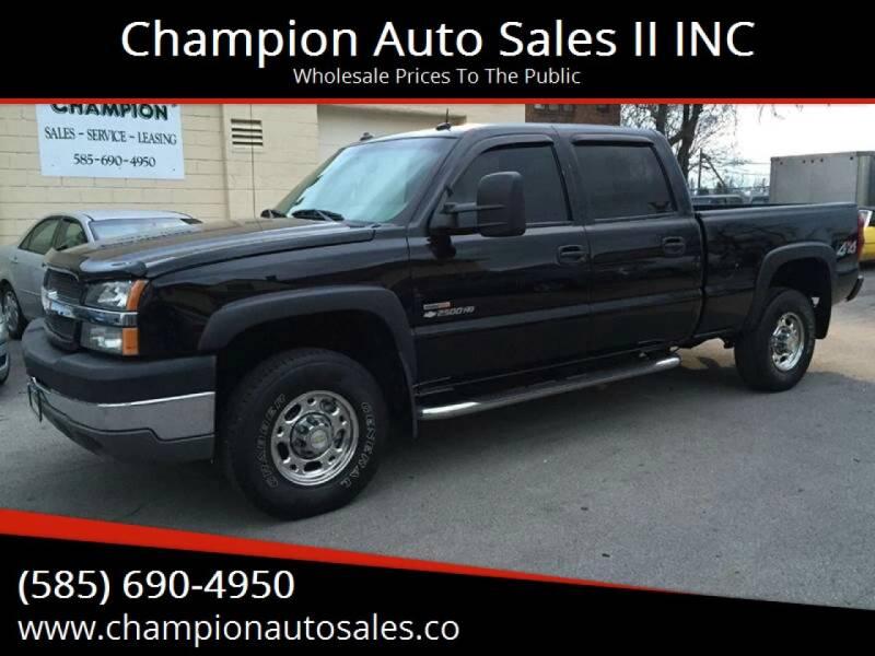 2003 Chevrolet Silverado 2500HD for sale at Champion Auto Sales II INC in Rochester NY