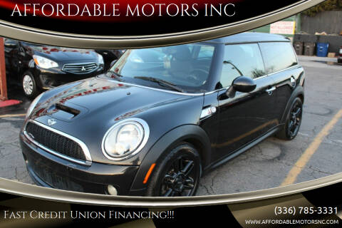 2010 MINI Cooper Clubman for sale at AFFORDABLE MOTORS INC in Winston Salem NC