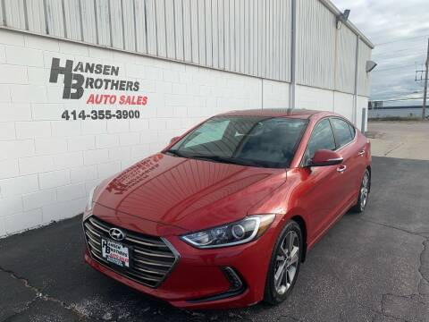 2017 Hyundai Elantra for sale at HANSEN BROTHERS AUTO SALES in Milwaukee WI