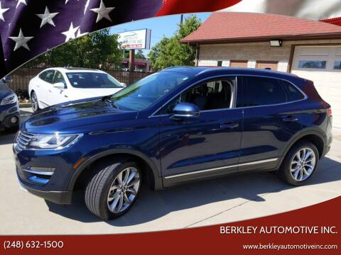 2017 Lincoln MKC for sale at Berkley Automotive Inc. in Berkley MI