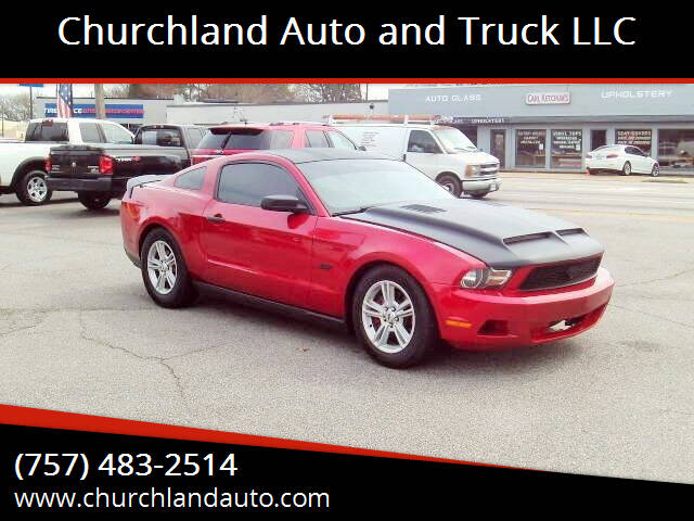 2012 Ford Mustang for sale at Churchland Auto and Truck LLC in Portsmouth VA