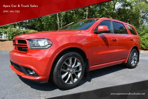 2015 Dodge Durango for sale at Apex Car & Truck Sales in Apex NC