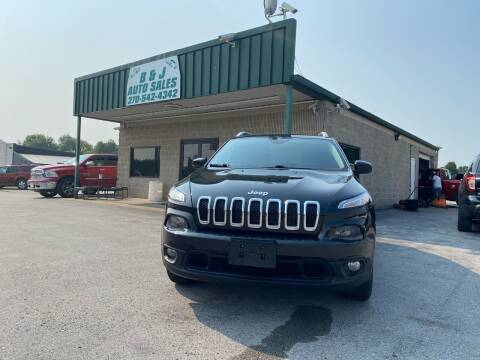 2014 Jeep Cherokee for sale at B & J Auto Sales in Auburn KY