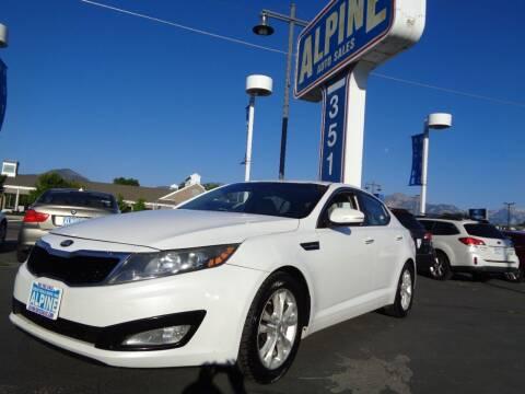 2013 Kia Optima for sale at Alpine Auto Sales in Salt Lake City UT