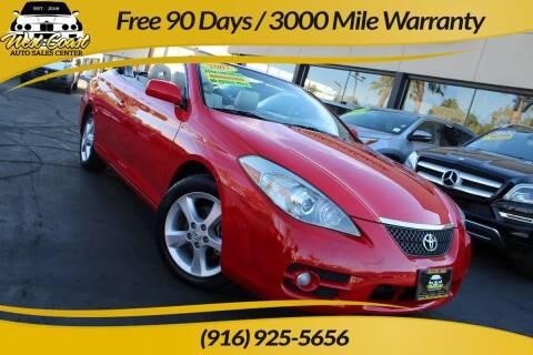 2007 Toyota Camry Solara for sale at West Coast Auto Sales Center in Sacramento CA