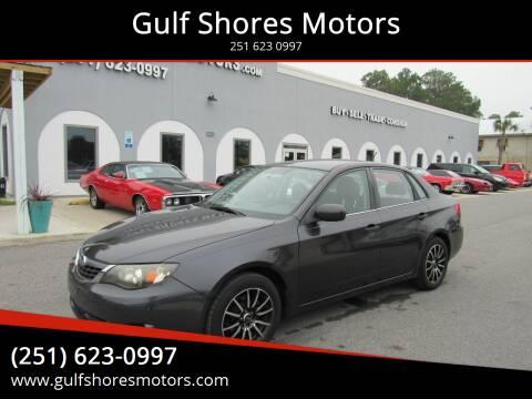 2008 Subaru Impreza for sale at Gulf Shores Motors in Gulf Shores AL