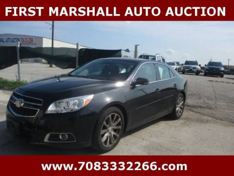 2013 Chevrolet Malibu for sale at First Marshall Auto Auction in Harvey IL