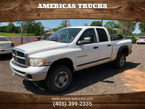 2003 Dodge Ram Pickup 2500 for sale at Americas Trucks in Jones OK