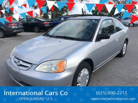 2003 Honda Civic for sale at International Cars Co in Murfreesboro TN