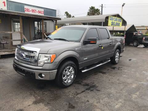 2014 Ford F-150 for sale at Texas 1 Auto Finance in Kemah TX