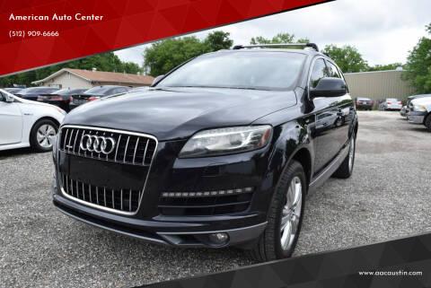 2011 Audi Q7 for sale at American Auto Center in Austin TX