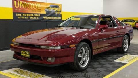 1986 Toyota Supra for sale at UNIQUE SPECIALTY & CLASSICS in Mankato MN