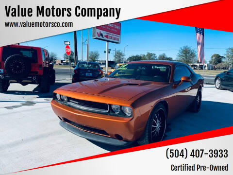 2011 Dodge Challenger for sale at Value Motors Company in Marrero LA