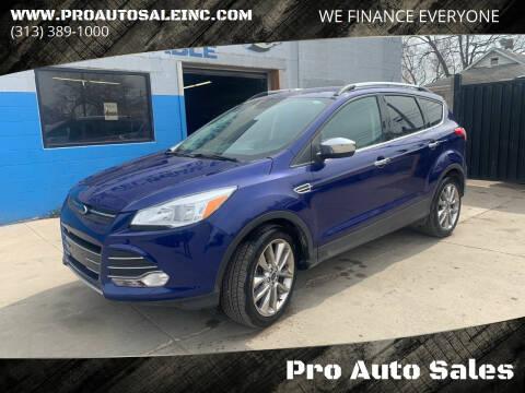 2014 Ford Escape for sale at Pro Auto Sales in Lincoln Park MI